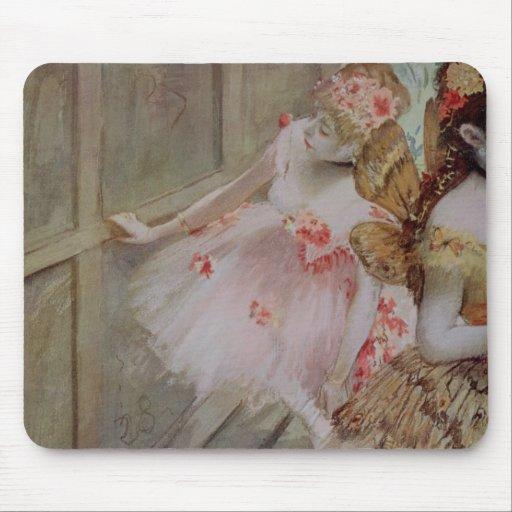 Dancer against a stage flat, c.1880 (tempera & pas mouse pad