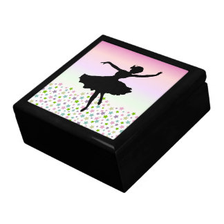 Dancer amongst the stars and pink sky keepsake box