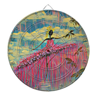 DANCER AND DRAGONFLIES 12 DARTBOARD