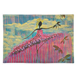 DANCER AND DRAGONFLIES 12 PLACEMAT