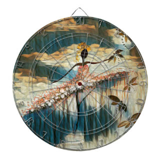 DANCER AND DRAGONFLIES 14 DARTBOARD