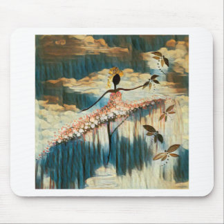 DANCER AND DRAGONFLIES 14 MOUSE PAD