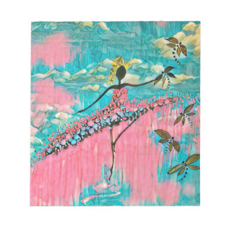 DANCER AND DRAGONFLIES 15 NOTEPAD