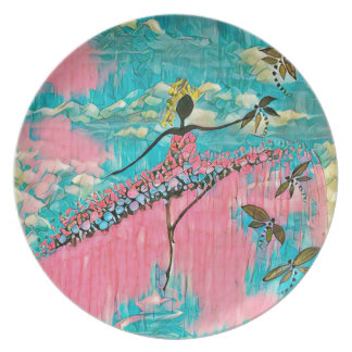 DANCER AND DRAGONFLIES 15 PLATE