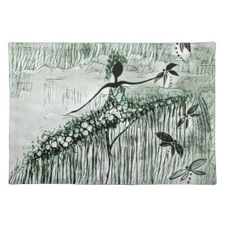 DANCER AND DRAGONFLIES 16 PLACEMAT
