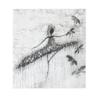 DANCER AND DRAGONFLIES 17 NOTEPAD