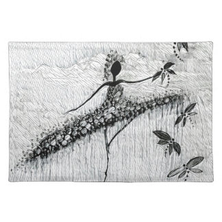 DANCER AND DRAGONFLIES 17 PLACEMAT