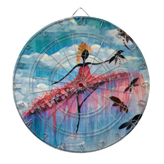 DANCER AND DRAGONFLIES 18 DARTBOARD