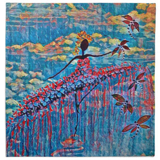DANCER AND DRAGONFLIES 19 NAPKIN