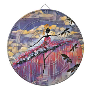 DANCER AND DRAGONFLIES 20 DARTBOARD