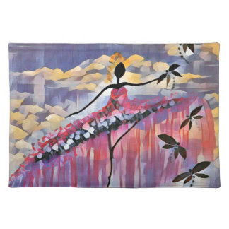 DANCER AND DRAGONFLIES 20 PLACEMAT