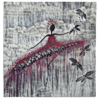 DANCER AND DRAGONFLIES 21 NAPKIN