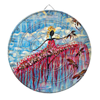 DANCER AND DRAGONFLIES 22 DARTBOARD