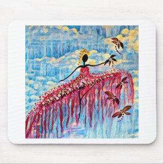 DANCER AND DRAGONFLIES 22 MOUSE PAD