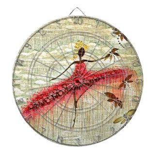 DANCER AND DRAGONFLIES 23 DARTBOARD WITH DARTS