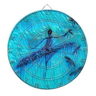 DANCER AND DRAGONFLIES 24 DARTBOARD WITH DARTS