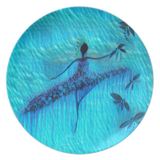 DANCER AND DRAGONFLIES 24 PLATE