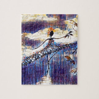 DANCER AND DRAGONFLIES 25 JIGSAW PUZZLE
