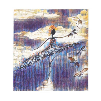 DANCER AND DRAGONFLIES 25 NOTEPAD