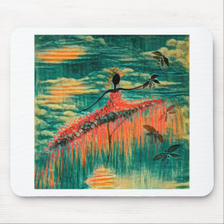DANCER AND DRAGONFLIES 26 MOUSE PAD