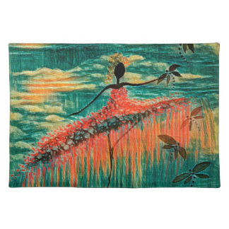 DANCER AND DRAGONFLIES 26 PLACEMAT