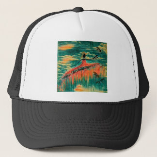 DANCER AND DRAGONFLIES 26 TRUCKER HAT