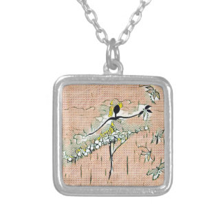 DANCER AND DRAGONFLIES 27 SILVER PLATED NECKLACE