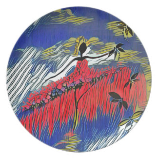 DANCER AND DRAGONFLIES 28 PLATE
