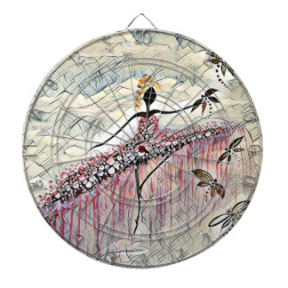 DANCER AND DRAGONFLIES 2 DARTBOARD