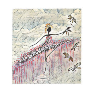 DANCER AND DRAGONFLIES 2 NOTEPAD