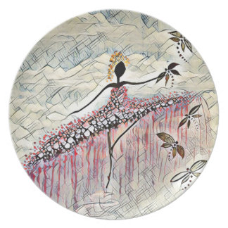 DANCER AND DRAGONFLIES 2 PLATE