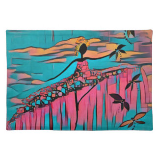 DANCER AND DRAGONFLIES 30 PLACEMAT
