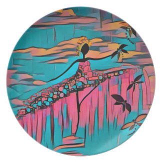DANCER AND DRAGONFLIES 30 PLATE