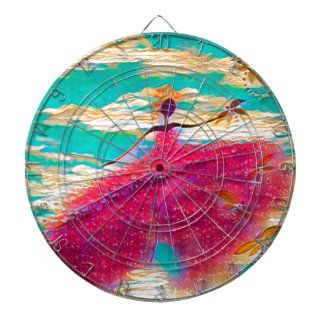 DANCER AND DRAGONFLIES 35 DARTBOARD