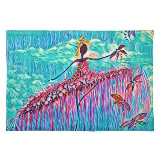 DANCER AND DRAGONFLIES 3 PLACEMAT