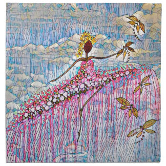 DANCER AND DRAGONFLIES 5 NAPKIN