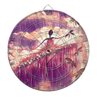 DANCER AND DRAGONFLIES 6 DARTBOARD