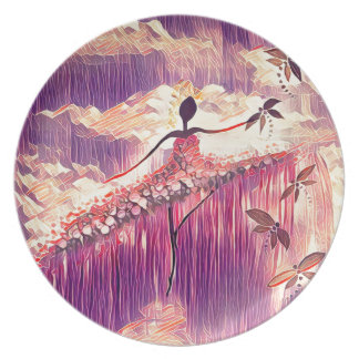 DANCER AND DRAGONFLIES 6 PLATE