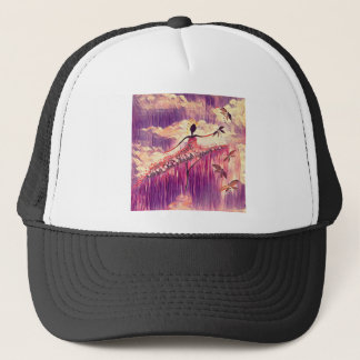 DANCER AND DRAGONFLIES 6 TRUCKER HAT