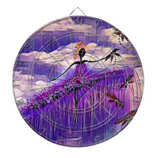 DANCER AND DRAGONFLIES 7 DARTBOARD