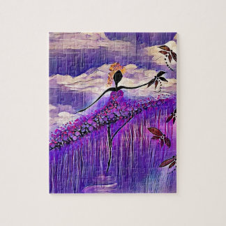 DANCER AND DRAGONFLIES 7 JIGSAW PUZZLE