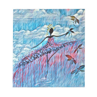 DANCER AND DRAGONFLIES 8 NOTEPAD