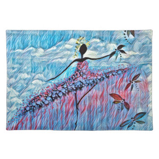 DANCER AND DRAGONFLIES 8 PLACEMAT