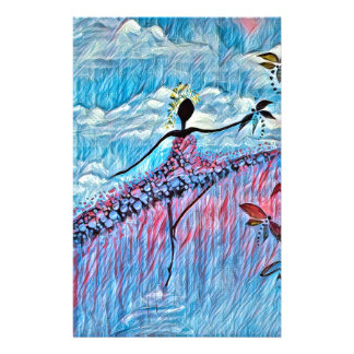DANCER AND DRAGONFLIES 8 STATIONERY