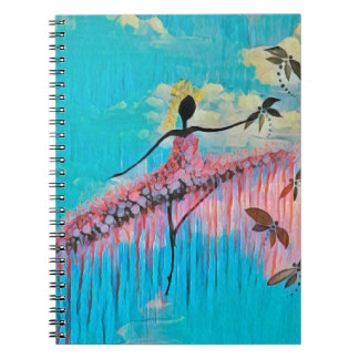 DANCER AND DRAGONFLIES 9 NOTEBOOK