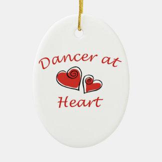 Dancer at Heart Ceramic Oval Ornament