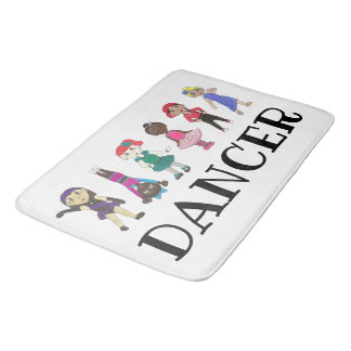 DANCER Ballet Tap Jazz Hip Hop Lyrical Acro Studio Bath Mat