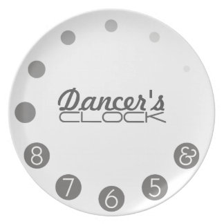 Dancer clock for a Dancer's. Party Plate