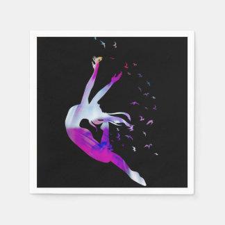 Dancer Colorful Art Illustration Paper Napkins