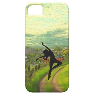 Dancer Dancing Near Field of Flowers iPhone 5 Case